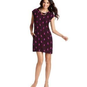 Ann Taylor LOFT SMITTEN KITTEN Burgundy Cat Dress